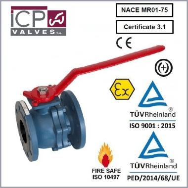 Zawór kulowy ICP typ 756